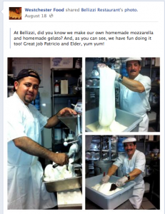 Mount Kisco's Bellizzi is one of many Westchester restaurants that finds value in social media. This is a series of photos that was shared to the Westchester Food Facebook page.