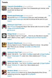 Westchester restaurants on Twitter